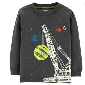 Carter's Glow in the Dark Space Terrific Tee 4t